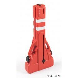 Barrera protección extensible plastica de alta visibilidad